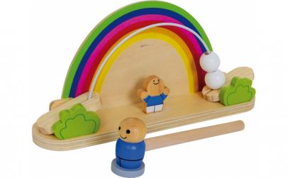 Balansoar cu ciocan din lemn Montessori