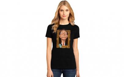 Tricou dama negru -  Dali - Frame