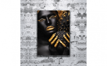 Tablou canvas Gold pineapple, 70 x 100