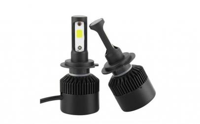 Set 2 LED-uri auto H7 72w/8000 Lumeni 65