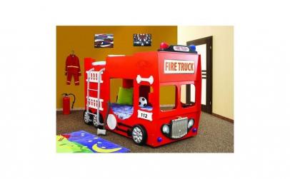 Pat etajat in forma de masina Pompieri