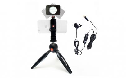 Kit pentru Vlogger LED8 Minitrepied cu