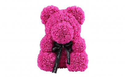Ursulet  Rose Bear 40 cm ciclam
