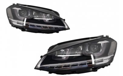 Set 2 faruri 3D LED, compatibil cu VW