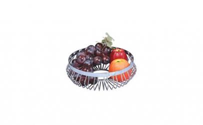 Cos metalic decorativ pentru fructe