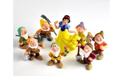 Set 5 figurine Alba ca zapada
