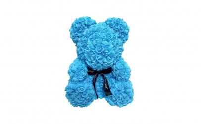 Ursulet  Rose Bear 40 cm albastru