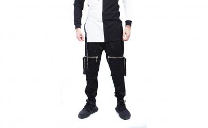 Pantaloni Barbati Gosse, Black, Zipper