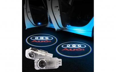LOGO AUDI LED pentru portiere