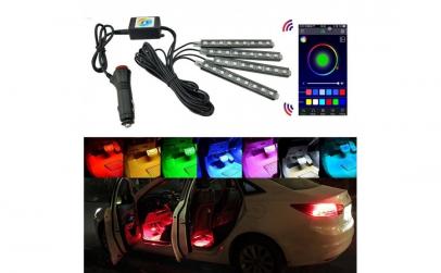 Lumini ambientale RGB cu music controler