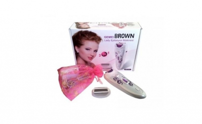Epilator 2in1 Gemei Brown BR-2122