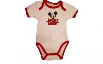 Body Mickey Mouse, alb, bebelusi, 60 cm