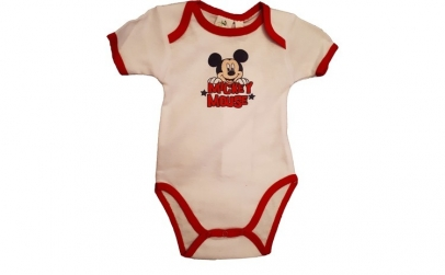 Body Mickey Mouse, alb, bebelusi, 74 cm