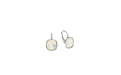 Cercei Square Leverback White Opal