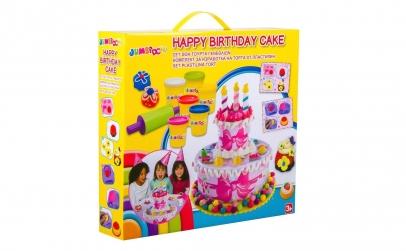 Tort Happy Birthday cu plastilina