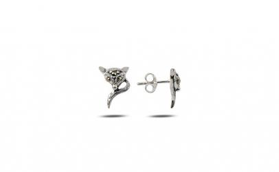 Cercei argint 925 vulpite cu marcasite