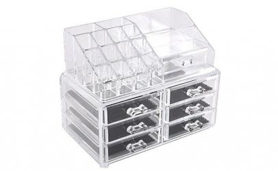 Organizator transparent cu 6 sertare