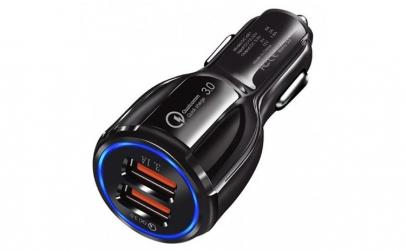 Incarcator Auto Dual 2 USB Techstar®