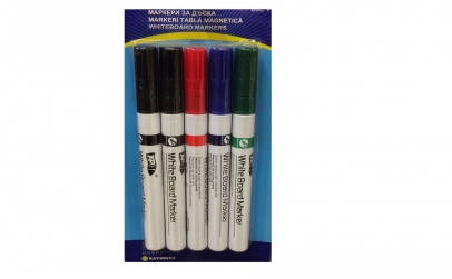 Set 5 markere pentru tabla alba