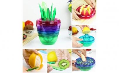 Set pentru stors si taiat fructe 10 in 1