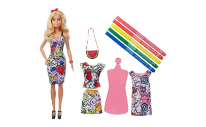 Barbie Mattel crayola rochita lavabila