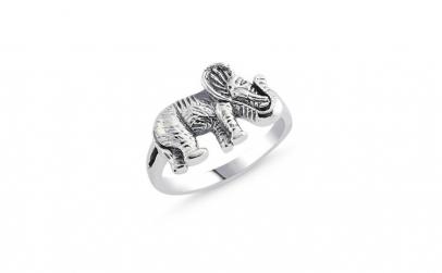 Inel argint 925 cu elefantel si aspect