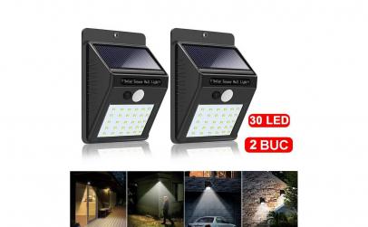Set 2 lampi solare cu 30 de leduri