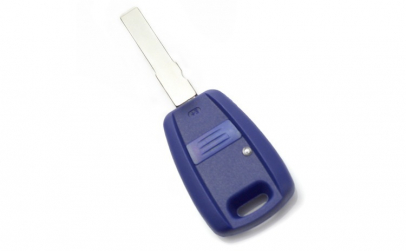 Fiat Carcasa cheie 1 buton, albastru, cu