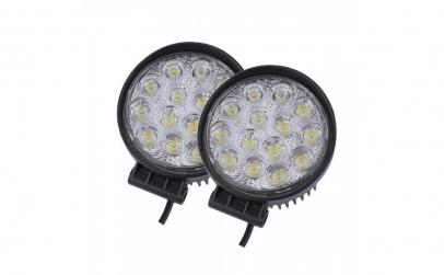 Set 2 proiectoare LED Rotunde 45mm