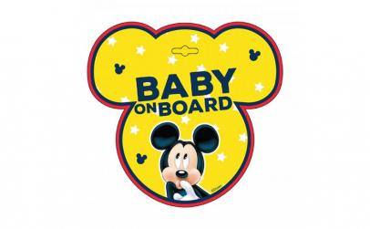 Semn de avertizare Baby on Board Mickey