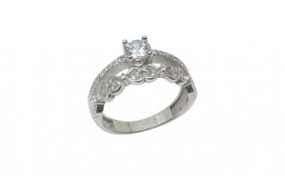 Inel Argint 925 Logodna cu Inimi,