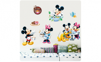 Autocolant Mickey and Minnie Mouse