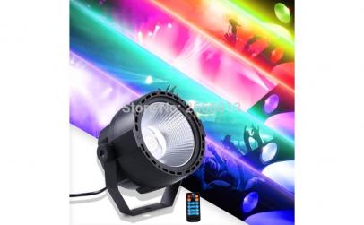 PAR RGB cu led si telecomanda