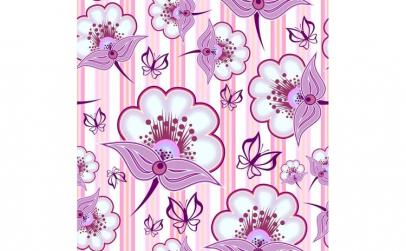 Tapet printat cu flori 029 1.35 x 10 m