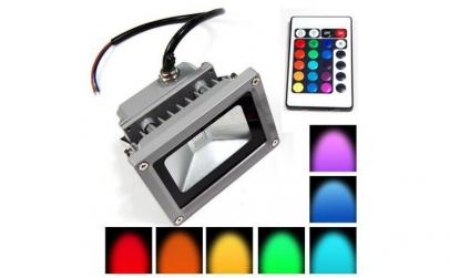 Proiector LED cu telecomanda - 10W
