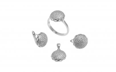 Set din argint cu zirconii