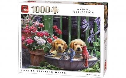King Puzzle 1000 piese - Pui de catei