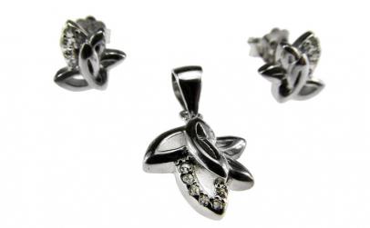 Set argint rodiat Class model frunzulite