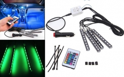 Set 4 benzi LED RGB Auto