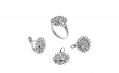 Set din argint - Floarea Soarelui