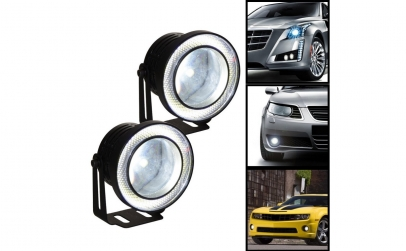 "Proiectoare Auto cu LED ""Angel Eyes"""