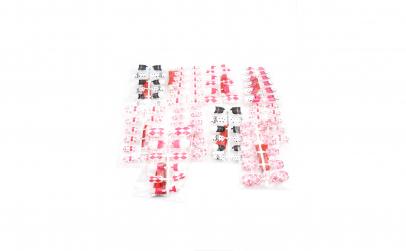 Set 10 unghii false colorate, cu lipici