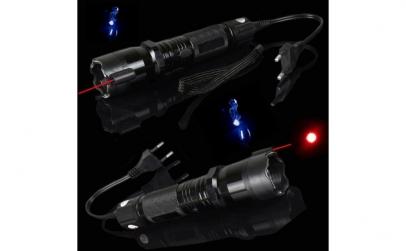 Lanterna LED cu electrosoc si laser