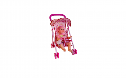 Carucior din metal cu bebelus sunete