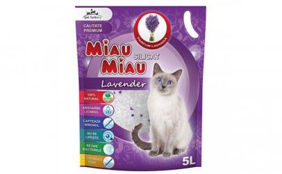 Nisip silicat Miau Miau Lavanda, 5L