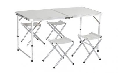 Set pentru camping - masa si 4 scaune