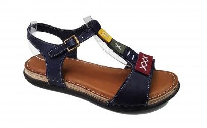 Sandale dama bleumarin din piele