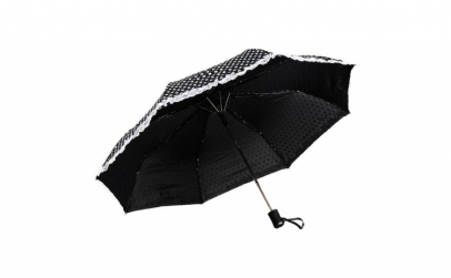 Umbrela telescopica, neagra cu buline