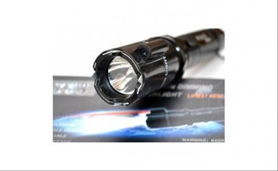Lanterna electrosoc cu LED si laser