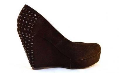Pantofi dama negri cu platforma si